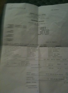 Steph's Car Bill